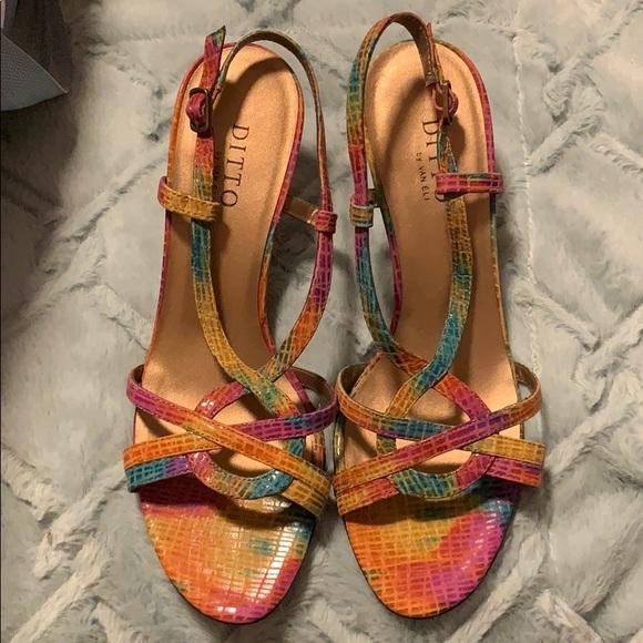 footwear buying cheap for whole family Vaneli Shoes | Ditto By Van Eli Rainbow Kitten Heels | Poshmark